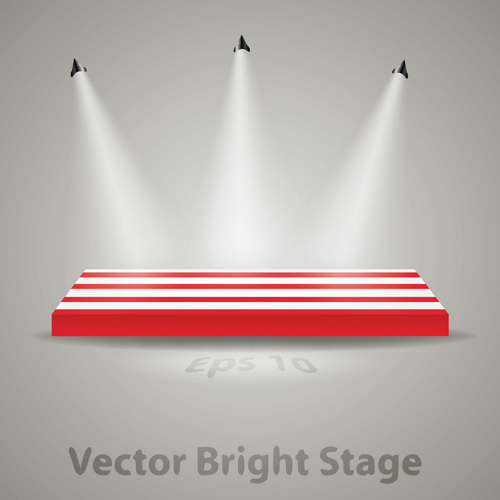 stage with spotlight effect design vector material 01 free