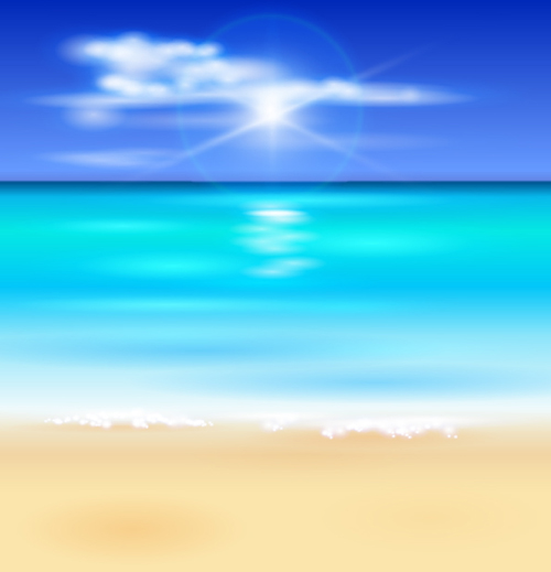 sunny beach design vector background 09 vector