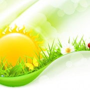 Link toSet of sunny day vector background 05