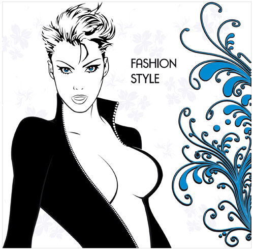 Woman sexy design elements vector 04 - Vector People free