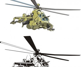 Various Military equipment design elements vector set 01