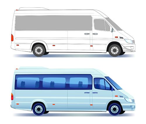 Different Transport vehicles design vector 02