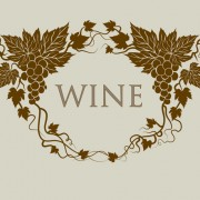 Link toRetro style grape wine background vector 01