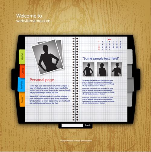 Personality Web site template design vector 02 - Vector Web design ...