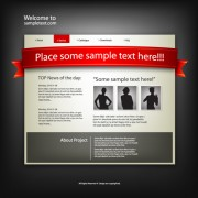 Personality web site template design vector 03
