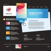 Personality web site template design vector 05