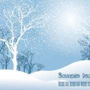 Link toElements of winter with snow backgrounds vector 01