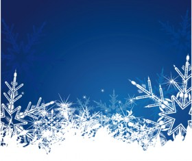 Elements of Winter with Snow backgrounds vector 03