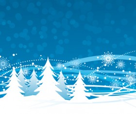 Elements of Winter with Snow backgrounds vector 04
