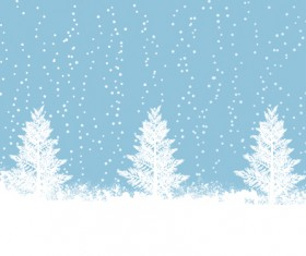 Elements of Winter with Snow backgrounds vector 05