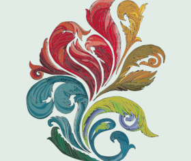 Vector of colorful Floral design elements