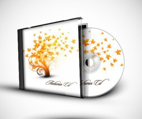 Abstract of CD Cover vector set 01