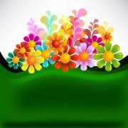 Link toSet of texture flower vector backgrounds art 02