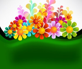 Set of Texture flower vector backgrounds art 02