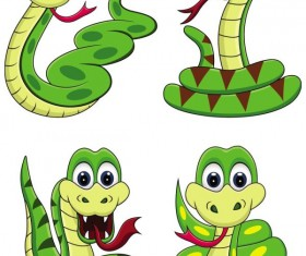 Snake 2013 Christmas design vector graphics 01