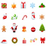 Link toVivid christmas icon vector material