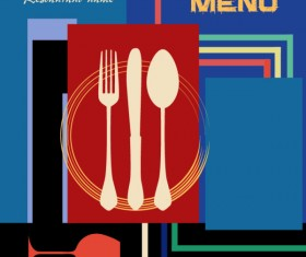 Vintage style Restaurant menu cover vector 02