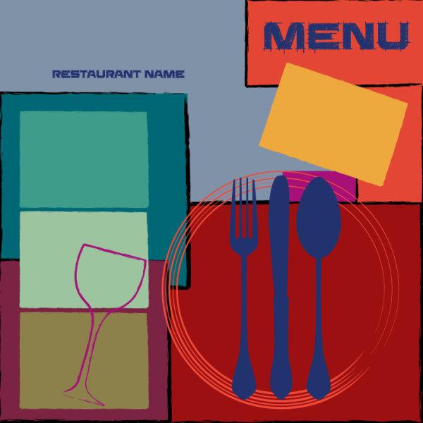 Vintage style Restaurant menu cover vector 04