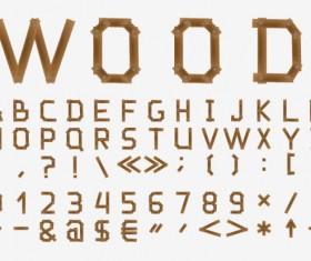 Excellent wooden alphabet design vector 03