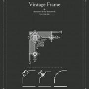 Link toVintage frames decor elements vector set 03
