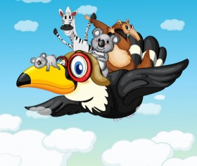 Cute Animals and children cartoon theme vector backgrounds 01