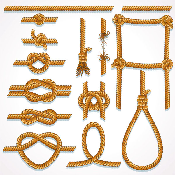Different Rope with Knot vector material