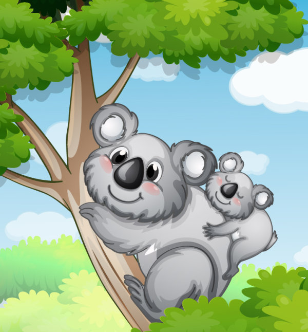 Cute Animals and children cartoon theme vector backgrounds 02