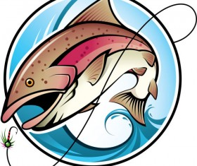 Cartoon of Fishing design vector set 02