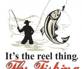 Cartoon of Fishing design vector set 03