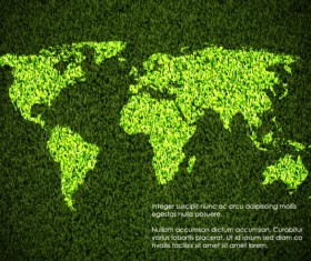 Elements of ecology green template vector set 01