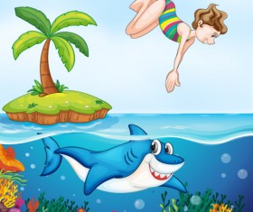 Cute Animals and children cartoon theme vector backgrounds 04