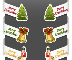 Creative Christmas design elements vector material 06