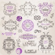 Link toSet of labels and ornaments elements vector 03
