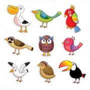 Link toVarious cute birds vector set 01