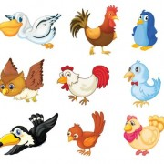 Link toVarious cute birds vector set 02
