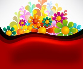 Set of Texture flower vector backgrounds art 01