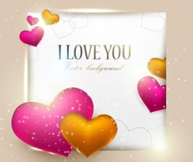 Valentine Day gift cards vector material 03