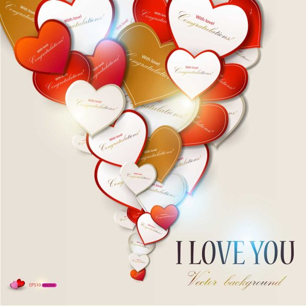 Valentine Day gift cards vector material 05