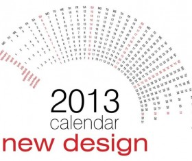 Creative 2013 Calendars design elements vector set 01