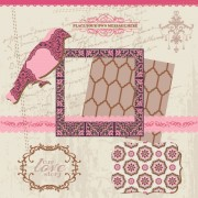 Link toVintage pattern ,lace,label and frames decor vector collection 03