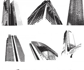Different Sky scraper design vector graphics