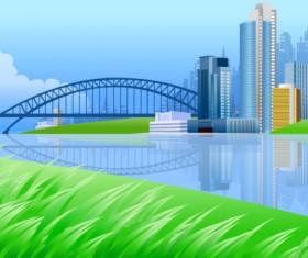 Beautiful city elements vector set 01