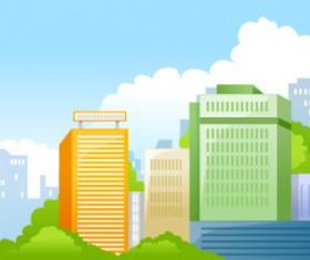 Beautiful city elements vector set 02