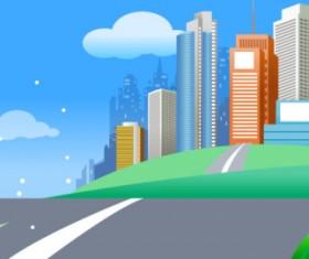 Beautiful city elements vector set 04