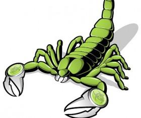 Green scorpions vector material