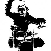 Link toChimpanzees and drums design vector