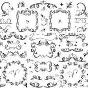 Link toBlack lace decor elements vector