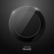 Link toBlack texture frame design vector 02