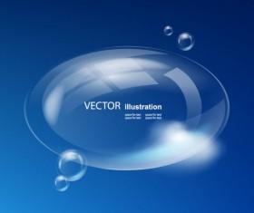 Set of Sky cloud bubbles vector backgrounds 04