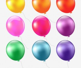 Colorful Balloon mix design vector 01